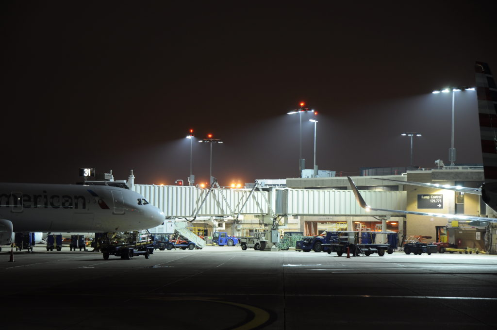 Dynamik Inc. provides LED Apron Lighting to airport